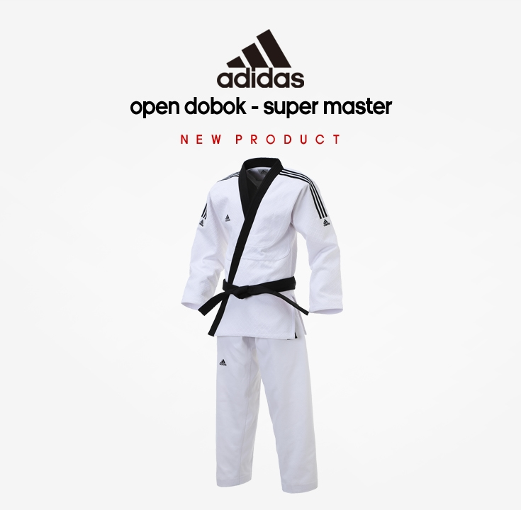 Dobok Tae Kwon Do TKD Adidas ADI-FIGHTER NEW 3-STRIPE Taekwondo Uniform