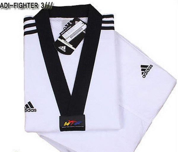 Nombre provisional Perdóneme ayudar  Adidas ADI-FIGHTER NEW 3-STRIPE Taekwondo Uniform (Dobok) TKD Tae Kwon Do    eBay