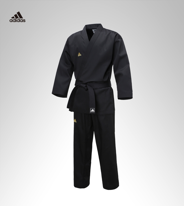 Adidas ADI-OPEN Dobok Men/'s Champion Uniform Black Taekwondo Hapkido Karate TKD