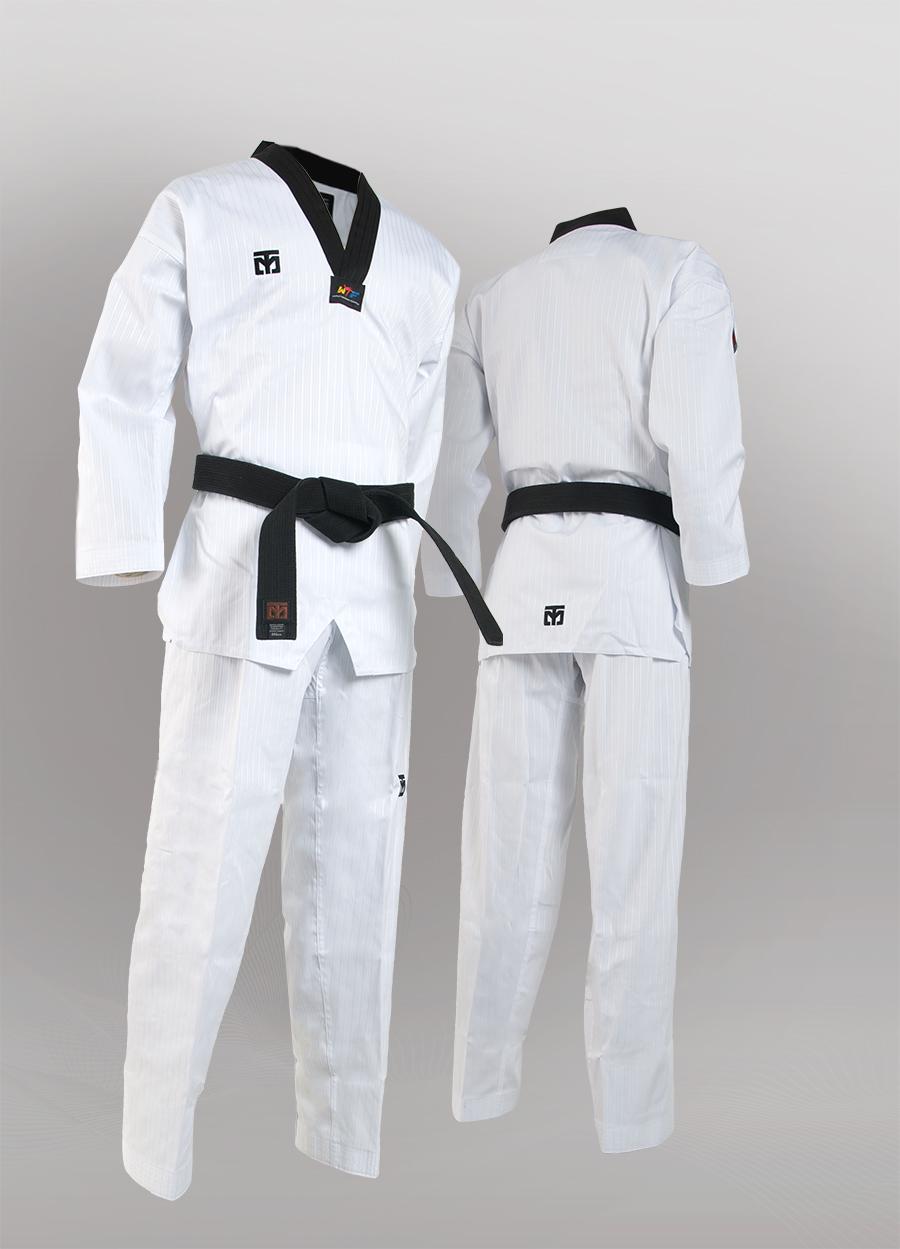 MOOTO BS4.5 Black Neck Uniform Dobok Martial Arts Taekwondo Tae Kwon Do TKD WTF