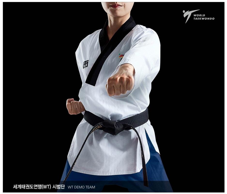 MOOTO Poomsae WTF Dan Uniform Female Taekwondo Dobok Tae Kwon Do TAEBEK