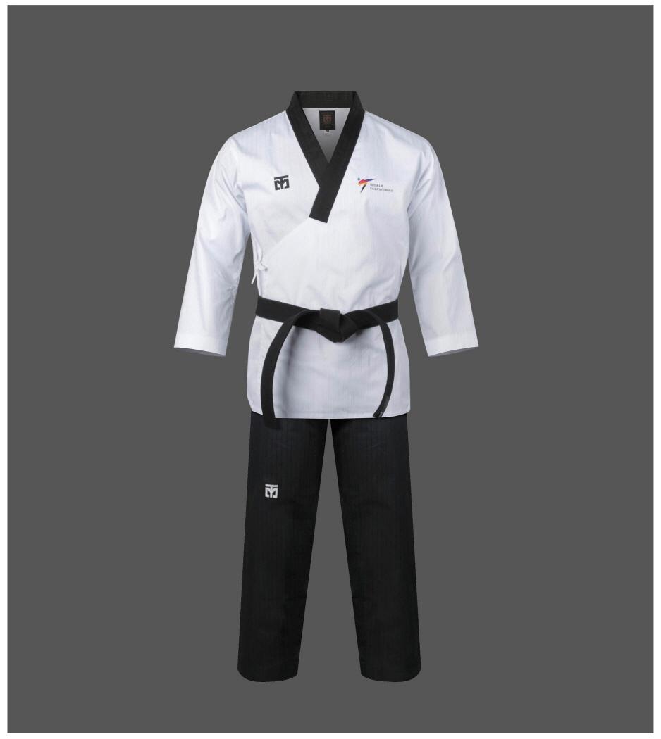 Uniform Moospo Taekwondo Dan Dobok Free Black Belt