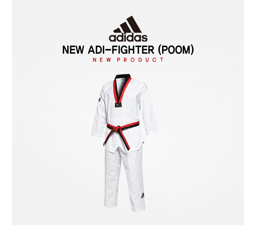 flexible Relámpago Ordinario  Adidas ADI-FIGHTER Taekwondo Poom Uniform (Dobok) CLIMACOOL Tae Kwon Do TKD  WTF   eBay